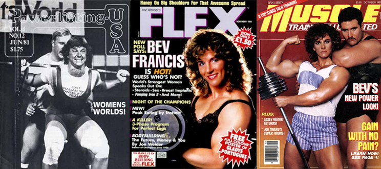 Bev Francis magazine covers